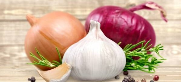 onion and garlic