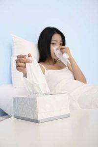 women with sinus problem