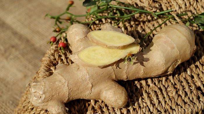 ginger on a basket