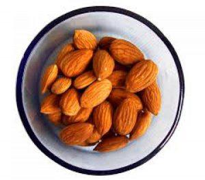 almonds in a bowel
