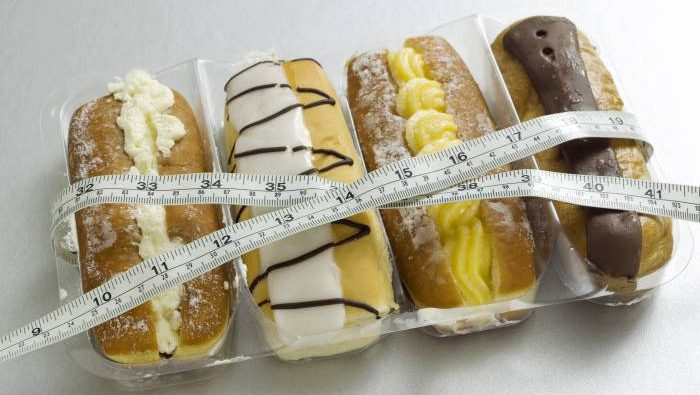 donuts with measuring tape