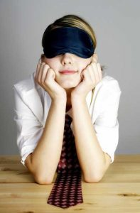 woman with sleeping mask